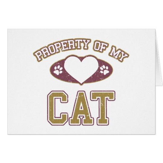 Property of My Cat Collegiate Card