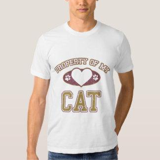 Property of My Cat Collegiate Shirt
