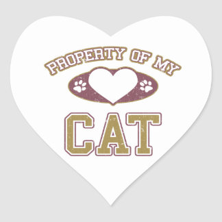Property of My Cat Collegiate Stickers