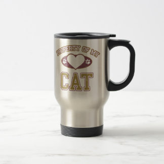 Property of My Cat Collegiate Travel Mug