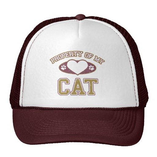 Property of My Cat Collegiate Trucker Hat