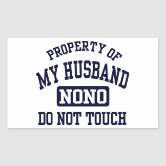 Property of my Husband Rectangular Sticker