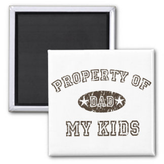 Property of My Kids 2 Inch Square Magnet