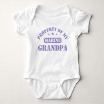 Property Of My Marine Grandpa Baby Bodysuit