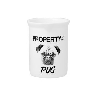 Property of my Pug Drink Pitcher