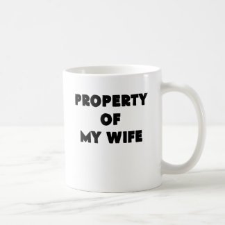 property of my wife.png classic white coffee mug
