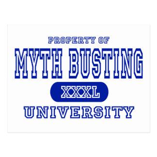 Property of Myth Busting Univeristy Postcard
