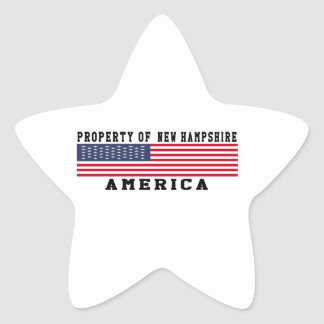 Property Of New Hampshire Star Stickers