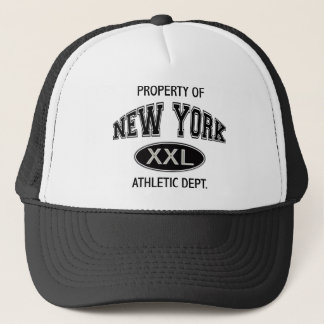 PROPERTY OF NEW YORK ATHLETIC DEPT TRUCKER HAT