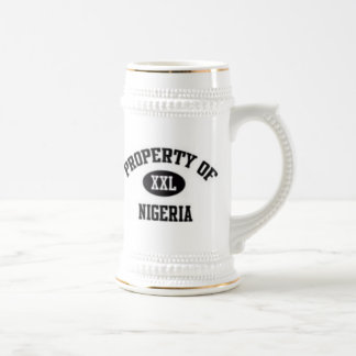 Property of Nigerian T-Shirt And Etc Beer Stein