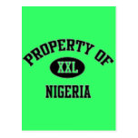 Property of Nigerian T-Shirt And Etc Postcard