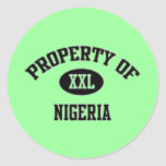 Property of Nigerian T-Shirt And Etc Classic Round Sticker