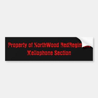 Property of NorthWood RedRegimentMellophone Sec... Car Bumper Sticker