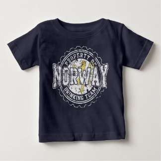 Property of Norway Drinking Team Bottle Cap Baby T-Shirt