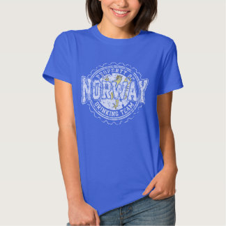 Property of Norway Drinking Team Bottle Cap T Shirt