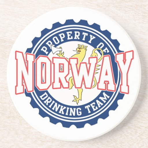 Property of Norway Drinking Team Coasters