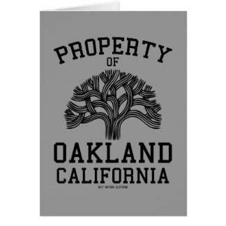 Property of Oakland Greeting Cards