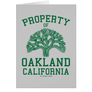 Property of Oakland Greeting Card