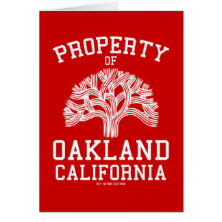 Property of Oakland Card