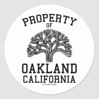 Property of Oakland Classic Round Sticker