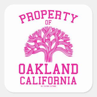 Property of Oakland Square Sticker