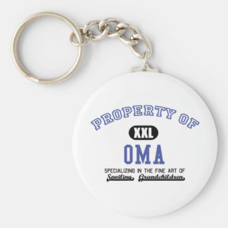 Property of Oma Key Chains