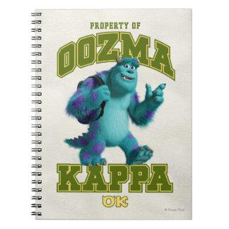 Property of OOZMA KAPPA Notebook