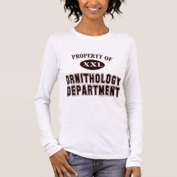 Women's Basic Long Sleeve T-Shirt with Property of Ornithology Department design
