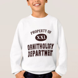 Kids' American Apparel Organic T-Shirt with Property of Ornithology Department design