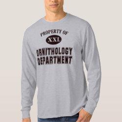 Men's Basic Long Sleeve T-Shirt with Property of Ornithology Department design