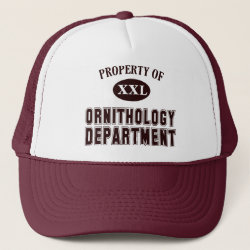 Trucker Hat with Property of Ornithology Department design