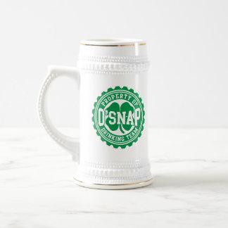 Property of O'snap Irish Drinking Team 18 Oz Beer Stein