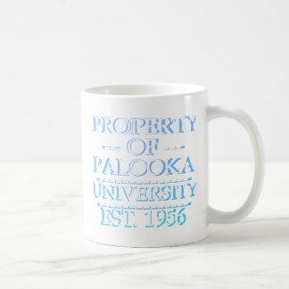 Property of Palooka University White w/ Cyan Mugs