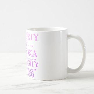 Property of Palooka University White w/ Magenta Coffee Mugs