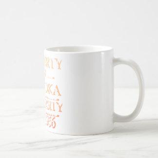 Property of Palooka University White w/ Orange Mugs