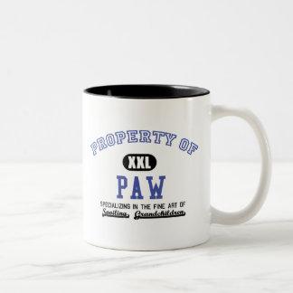 Property of Paw Two-Tone Coffee Mug