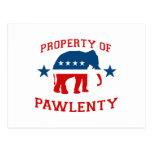 PROPERTY OF PAWLENTY POSTCARDS