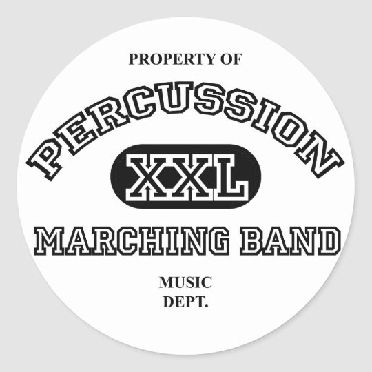 Property of Percussion Classic Round Sticker