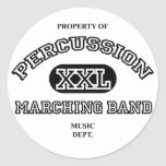 Property of Percussion Round Sticker