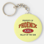 PROPERTY OF PHOENIX VALLEY OF THE SUN KEYCHAINS
