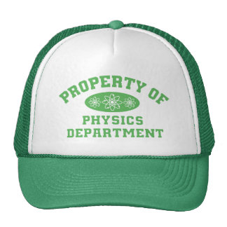 Property Of Physics Department (green) Cap