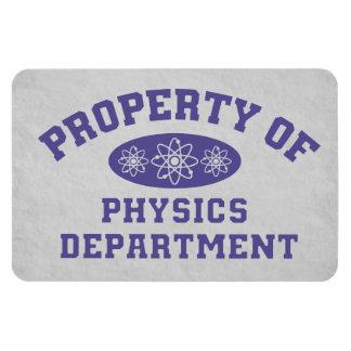 Property Of Physics Department Rectangular Photo Magnet