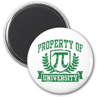 Property of Pi University 2 Inch Round Magnet