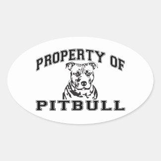 Property of Pitbull Oval Sticker