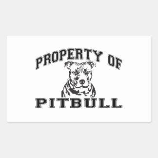 Property of Pitbull Rectangular Sticker