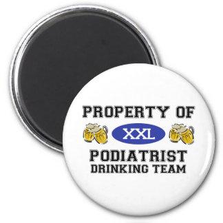 Property of Podiatrist Drinking Team 2 Inch Round Magnet