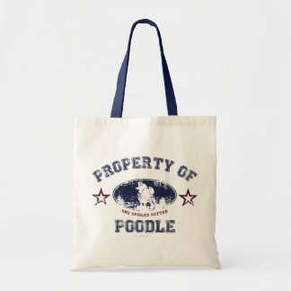 Property of Poodle Canvas Bags