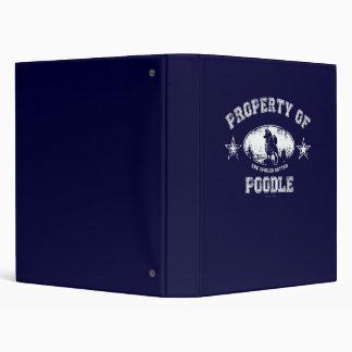 Property of Poodle Vinyl Binders