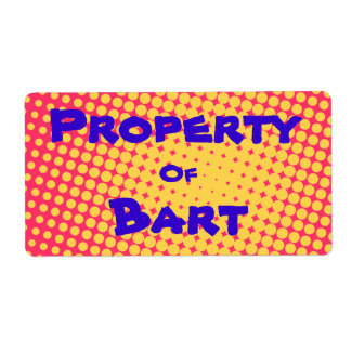Property Of... PopArt Stickers Personalized Shipping Labels
