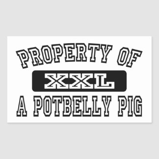 Property Of Potbelly Pig Stickers